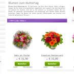 Blumenonline: Für die Auswahl der Blumen könnt ihr euch hier etwas Zeit lassen. Wer Samstag bis 11 Uhr bestellt, bekommt die Blumen auf Wunsch auch am gleichen Tag. Zum Muttertag ist dieser Service auch sonntags möglich. Allerdings gilt auch hier die Devise: je schneller, desto besser. Der Anbieter arbeitet mit Floristen vor Ort zusammen, die die Sträuße dann am Bestelltag binden und ausliefern. Deswegen kann es passieren, dass die Blumen nicht ankommen, wenn diese einfach zu kurzfristig bestellt wurden. Die gleichen Bestellfristen gelten für euroflorist.de.
