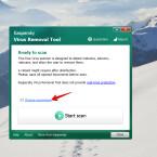 """Nach dem Download führt ihr einen Doppelklick auf die heruntergeladene EXE-Datei aus. Dadurch wird die Software gestartet. Das Tool muss nicht installiert werden. Nach der Initialisierung und dem Update der Virensignaturen gelangt ihr auf den Startbildschirm. Klickt hier auf """"Change parameters""""."""