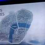 Dieses Foto stammt von einer Präsentation, vermutlich zeigt es die In-Game-Map.
