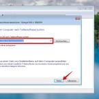 Gebt als Speicherort das Verzeichnis an, in dem ihr die heruntergeladene Treibersoftware gespeichert habt. Falls ihr den Treiber von der mitgelieferten CD installieren möchtet, legt ihr diese in das CD-Laufwerk ein und gebt dieses als Speicherort an.