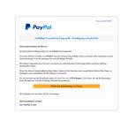 """Mit dieser Mail teilen die Kriminellen mit, dass über euren PayPal-Account eingekauft wurde. Ihr könnt den Einkauf stornieren, indem ihr eure Daten bestätigt. Allerdings heißt """"bestätigen"""" in diesem Fall eingeben. Das ist Betrug. Die Ganoven möchten eure Daten, um danach damit auf Einkaufstour zu gehen."""