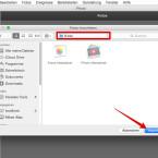 """Um die Mediathek der neuen Fotos-App zu importieren, wechselt ihr in den Ordner, in dem die Fotos-Mediathek gespeichert ist. Normalerweise befindet sich diese im Verzeichnis """"Bilder"""". Dort angelangt, klickt ihr auf den Button """"Importieren"""", um die Bilder aus Fotos in iPhoto zu importieren. Möchtet ihr alle gespeicherten Bilddateien eures Macs importieren, klickt ihr auf den Button """"Importieren"""", ohne ein Verzeichnis auszuwählen (nicht empfohlen)."""