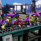 Die Spieler bereiten sich auf die Farbenschlacht vor.