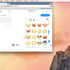In das Textfeld am unteren Rand des Fensters gebt ihr eure Nachricht ein und versendet diese mit der Enter-Taste. Über das Smile-Icon versendet ihr zudem die bei Facebook bekannten Sticker und Emoticons. An dieser Stelle könnt ihr auch weitere Emoticon-Pakete herunterladen.
