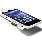 Wenn der Beamer ausgeschaltet ist, lädt der Beamer den Akku des iPhones auf.