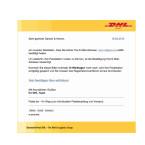 Auch die Packstationen von DHL werden als Vorwand genutzt, um euch einen Trojaner unterzuschieben. In den gefälschten E-Mails werdet ihr gebeten eure E-Mail-Adresse zu bestätigen. Der angegebene Link führt euch aber nicht zu DHL, sondern auf eine infizierte Webseite. Dort wird der Trojaner heruntergeladen. Klickt den Link nicht an.