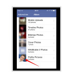 Ihr seht nun die Übersicht eurer Facebook-Alben. Wählt ein Album aus.