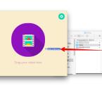 Jetzt zieht ihr die Datei per Drag-and-drop in das geöffnete Fenster von Gifrocket und legt sie dort ab.