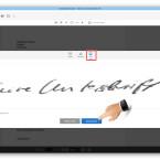 """Die zweite Möglichkeit ist, ein Bild eurer Unterschrift zu verwenden. Signiert dazu ein weißes Blatt, fotografiert diese Unterschrift und speichert das Bild auf eurem Computer. Am schnellsten funktioniert das mit eurem fotofähigen Mobiltelefon. Wählt jetzt die Funktion """"Bild"""". Nach einem Klick auf """"Bild auswählen"""" sucht ihr auf eurem Computer das Bild mit eurer Unterschrift. Mit einem Klick auf """"Anwenden"""" übernehmt ihr die Unterschrift."""