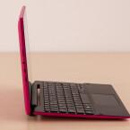 ...ihr das 2-in-1-Hybrid-Gerät im so genannten Notebook-Modus. Tablet und Tastatur...