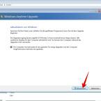 """Jetzt beginnt der Upgrade-Prozess. Während des Upgrades dürft ihr nicht produktiv arbeiten. Klickt unten rechts auf """"Aktualisieren""""."""