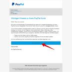 """Diese Fälschung ist gut gemacht. Im Text sind nur wenige und sehr kleine Rechtschreibfehler zu finden, die gern überlesen werden. Zudem wird der Kunde mit seinem vollständigen und richtigen Namen angesprochen. Einzig an dem Ziel des Links """"Zur PayPal-Site"""" ist erkennbar, dass es sich um eine betrügerische E-Mail handelt. Der Link führt nicht zu paypal.com."""
