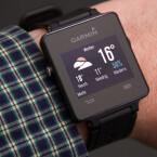 Eine Wetter-App auf der Smartwatch.