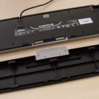 Das MX Board 6.0 wiegt mehr als doppelt so viel wie Apples Standardtastatur.