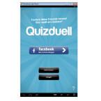 Nach der Installation öffnet ihr die Quizduell-App. Anmelden könnt ihr euch mit vorhandenen Zugangsdaten, eurem Facebook-Account, oder ihr erstellt ein neues Konto.