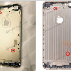 Das Gehäuse des iPhone 6s Plus (links) im Vergleich zum Gehäuse des Vorgängers.