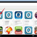 Klickt in den Suchergebnissen die Quizduell-App an.