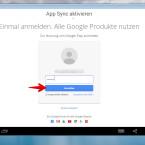 """Jetzt müsst ihr noch einmal das Kennwort eures Google-Accounts für die Synchronisation von Apps eingeben. Klickt danach auf """"Anmelden""""."""