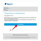 """Auch diese Phishing-Nachricht mit gefälschtem Absender ist fast perfekt. Wenig Rechtschreibfehler und die korrekte Anrede schaffen Vertrauen. Auch hier verrät das Ziel des Links """"Zur Bestätigung"""", dass es sich um eine Fälschung handelt, da die Verlinkung nicht zu PayPal führt."""