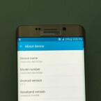 Ein Blick in die Einstellungen des Galaxy S6 Edge Plus zeigt das Gerät läuft mit Android 5.1 Lollipop.