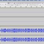 In Audacity beginnt man dann die Aufnahme durch einen Klick auf den Aufnahme-Button