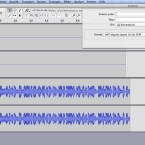 """Abschließend nimmt Audacity den Streaming-Song auf. Nach Ende des Songs stoppt man die Aufnahme, wählt """"Ton exportieren"""" unter dem Reiter """"Datei"""" und das Dateiformat für den Export aus."""