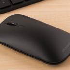 """Genau wie die Tastatur ist sie recht flach geraten, bietet aber ein gutes """"Klickgefühl""""."""