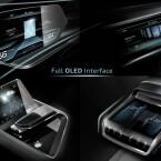 Der Innenraum ist bestückt mit OLED-Bildschirmen.