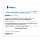 """Diese E-Mail ist sehr professionell gefälscht. Sie enthält nicht nur den vollständigen Namen des Empfängers, sondern auch einen Link zum gekauften Produkt in einem renommierten Onlineshop. Ihr sollt den Kauf stornieren, wenn ihr die Bestellung nicht ausgelöst habt. Doch genau hier ist die Falle. Klickt ihr den Link """"Weiter zur Stornierung"""" an, so gelangt ihr auf eine gefälschte PayPal-Seite und eure Daten werden entwendet."""