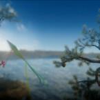 Fliegt mit Yarny durch schöne Fichtenwälder.