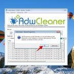 """Ein Hinweis informiert euch darüber, dass der AdwCleaner alle Programme schließt. Bestätigt diese Meldung mit einem Klick auf """"OK"""". Danach beginnt das Reinigungs-Tool mit der Entfernung der Adware."""