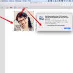 """Mithilfe des rechteckigen Icons wählt ihr einen rechteckigen Ausschnitt aus dem Dokument aus. Habt ihr dies getan, erscheint der Button """"Beschneiden"""". Klickt ihr diesen Button an, wird die rechteckige Auswahl ausgeschnitten und erscheint als einzelne Seite im Dokument. Aber Vorsicht: Der restliche Inhalt des Dokuments geht dabei verloren. Apple warnt euch beim ersten Mal, indem ein Fenster eingeblendet wird. Darin wird erklärt, was beim Beschneiden des Dokuments passiert."""