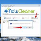 """Möchtet ihr den AdwCleaner und alle gesicherten Daten löschen, so klickt ihr auf den Button """"Deinstallieren"""". Eine Wiederherstellung ist dann nicht mehr möglich."""
