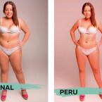 In Peru sind rötliche Haut, breite Hüften und eine asiatische Augenformen schön.