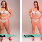 Die perfekte Frau in Serbien.