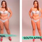 Die Südafrikanische Schönheit ist unerwartet schmal.