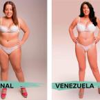 In Venezuela sind schwarze lange Haare und weibliche Rundungen beliebt.