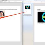 Nun schiebt ihr per Drag-and-drop die einzelnen Seiten aus der Miniaturvorschau beliebig hin und her und fügt diese an die gewünschte Stelle im Dokument ein. Ihr müsst die Seiten nicht ganz oben oder unten einfügen. Es besteht auch die Möglichkeit, eine Seite zwischen zwei andere Seiten einzufügen.