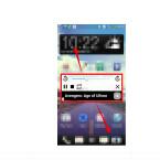 Die App AudioPocket enthält auch ein Widget. Dieses ruft ihr auf, indem ihr in der Benachrichtigungsleiste auf den aktuell abgespielten Titel klickt. Dieses Widget lässt sich an jede beliebige Stelle des Displays verschieben und bleibt auch im Vordergrund, wenn ihr andere Apps öffnet und in diesen arbeitet.