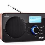 Auna Worldwide Internetradio: Kompaktes Internetradio mit DAB+ und UKW/MW-Tuner. MP3-fähiger USB-Port sowie AUX-Eingang und Kopfhörer-Ausgang, Schlummerfunktion und Sleep-Timer. Preis circa 120 Euro