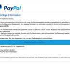 In dieser gefälschten E-Mail wird mitgeteilt, dass ungewöhnliche Aktivitäten auf dem Kundenkonto festgestellt wurden. Deshalb wurde auch hier das Konto gesperrt. Über den Abgleich der persönlichen Daten des Empfängers soll das Konto wieder freigeschaltet werden. Doch dieser Abgleich sendet die Daten über gefälschte Webseiten an Dritte.