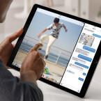 Apps können auf dem iPad Pro im Split-Screen-Modus laufen.