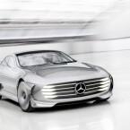 """Ein umlaufendes Lichtband soll den """"Hightech-Anspruch"""" des Mercedes Concept IAA unterstreichen. Doch besonderer Augenmerk gilt ..."""