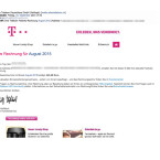 """Die neuen Fälschungen der Telekom-Rechnungen enthalten teilweise die erst im Februar eingeführten Sicherheitsmerkmale der Telekom. So steht im Betreff und im ersten Absatz des Textes die Adresse des Empfängers. Zudem wird der Kunde mit Namen angesprochen. Nicht optimal gefälscht wurden die grafischen Elemente in der E-Mail, welche verschwommen dargestellt werden. Auch der Absender hinter """"Telekom Deutschland GmbH"""" enthält teilweise keine Domain der Telekom, sondern eine beliebige E-Mail-Adresse."""
