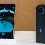 Die Ricoh Theta S kann sowohl mit dem iPhone als auch Android-Geräten verbunden werden.