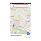 """Startet die App """"Google Maps"""". Sucht euch den Ort auf der Karte heraus, den ihr speichern möchtet."""