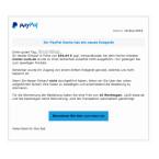 Auf diese E-Mail solltet ihr nicht hereinfallen, denn allein die Rechtschreibfehler deuten daraufhin, dass etwas nicht stimmt. Auch das Logo von PayPal ist nicht korrekt. Neu ist die Masche mit der Information über einen Einkauf nicht.