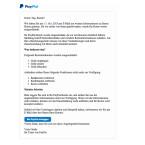 Auch mit dieser sehr ausführlichen E-Mail, welche seriös wirkt, möchten Cyberkriminelle an eure Daten kommen. Gedroht wird wieder mit der Kontensperrung, die ihr durch die Eingabe eurer persönlichen Daten als Bestätigung angeblich aufheben könnt. Fallt auf die Fälschung nicht herein. Die E-Mail gehört in den Papierkorb.
