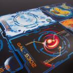 Fünf Planetenkarten wollen erkundet werden.