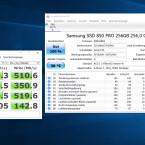 Testergebnisse Samsung 850 Pro.